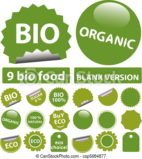 bio stickers - csp5684877