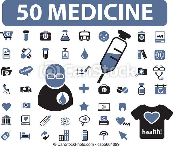 50 medicine signs - csp5684899