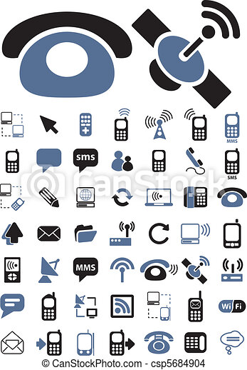 communication signs, vector - csp5684904