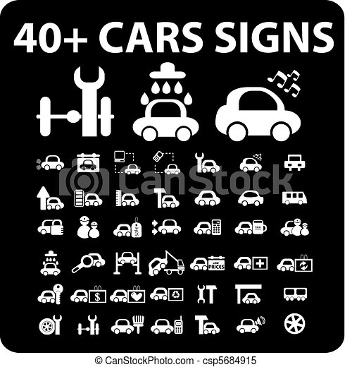 40  cars signs - csp5684915