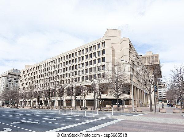 FBI building in Washington DC USA - csp5685518