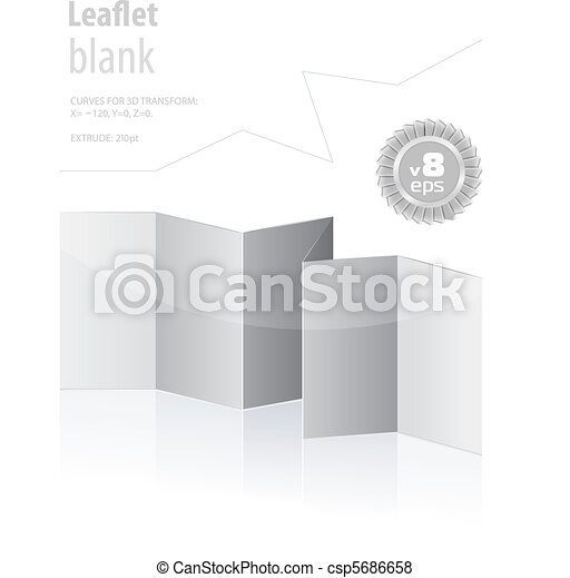 folded blank menu for your design - csp5686658