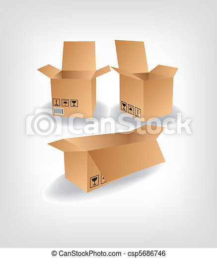 shipping box vector - csp5686746