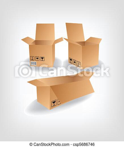shipping box vector  - csp5686746