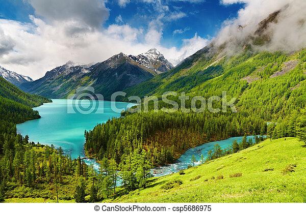 Mountain lake - csp5686975