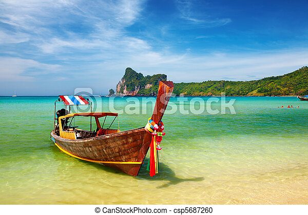 Tropical beach Thailand - csp5687260
