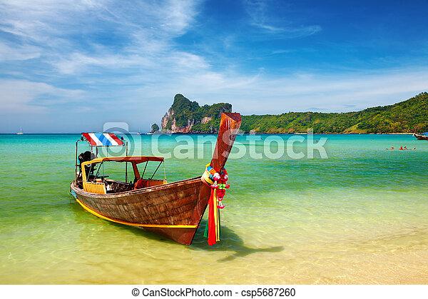 Tropical beach Thailand - csp5687260