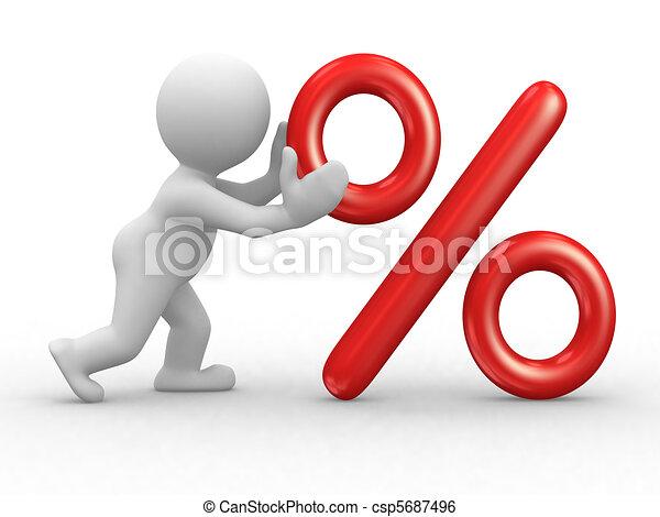 Percent symbol - csp5687496