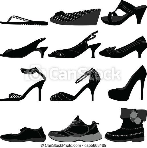 Girl Female Woman Shoes Footwear - csp5688489