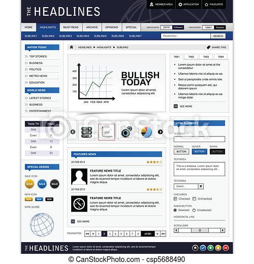 Web design element template - csp5688490