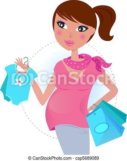 Pregnant mom awaiting baby boy - csp5689089