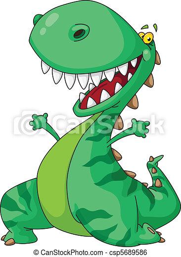 cheerful dinosaur - csp5689586