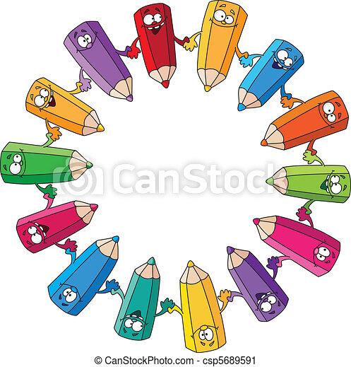 circle pencils - csp5689591