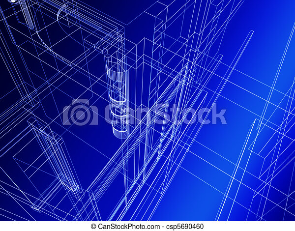 Abstract architectural construction - csp5690460