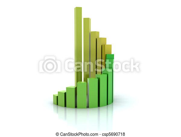 Spiral graph financial growth  - csp5690718