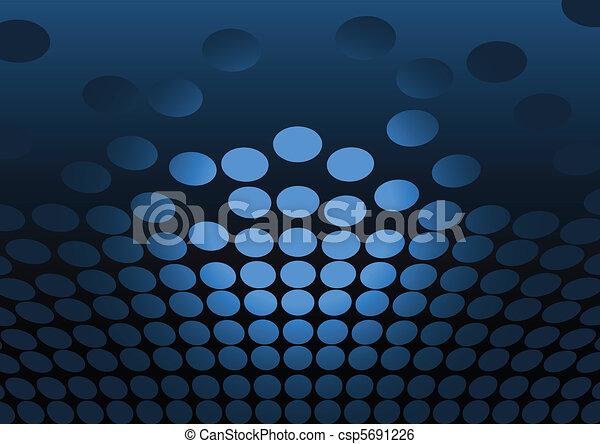 Clip Art Vector of Blue vector jumpink dots lighted csp5691226