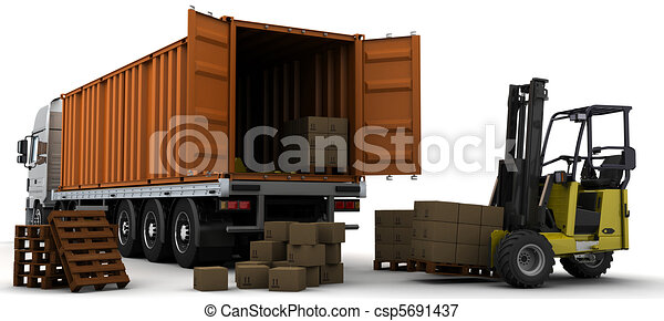 freight container Delivery Vehicle - csp5691437