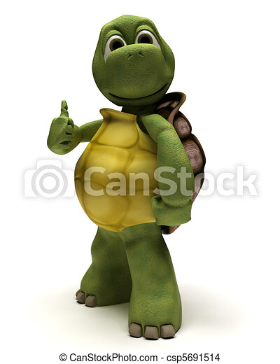 tortoise with thumbs up - csp5691514