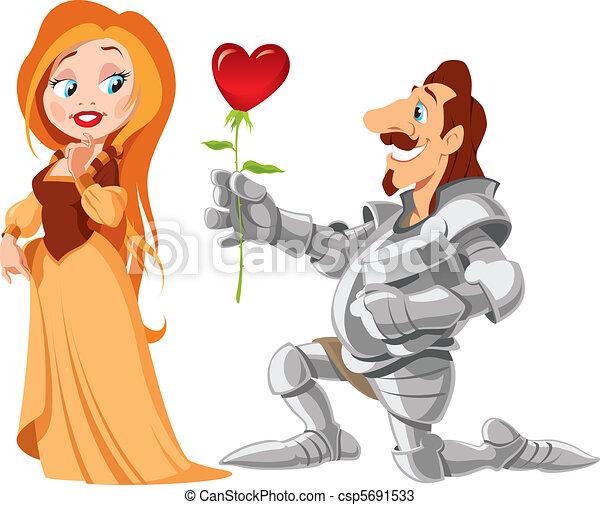 Princess & Knight - csp5691533