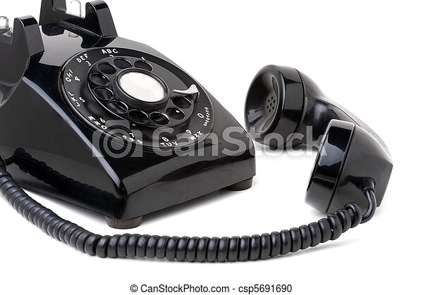 Old Vintage Telephone Off the Hook - csp5691690