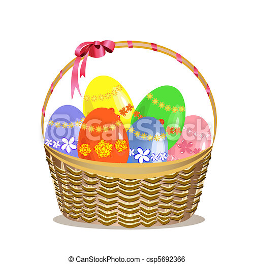 Easter basket - csp5692366