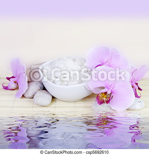 Spa Still Life with Water Reflection - csp5692610