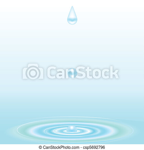 water droplet and ripple background - csp5692796