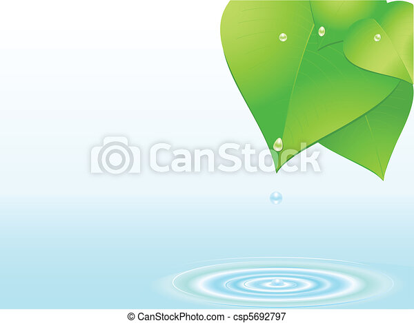 water droplet and ripple - csp5692797