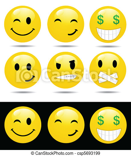 characters of yellow emotions - csp5693199