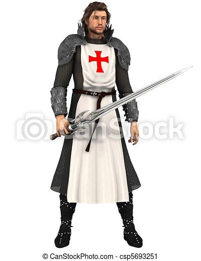 Saint George - Patron St of England - csp5693251