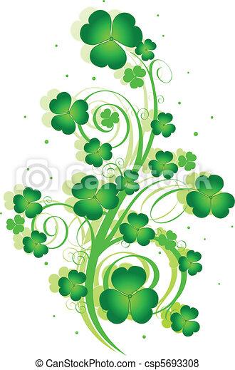 St. Patrick%u2019s Day swirl - csp5693308