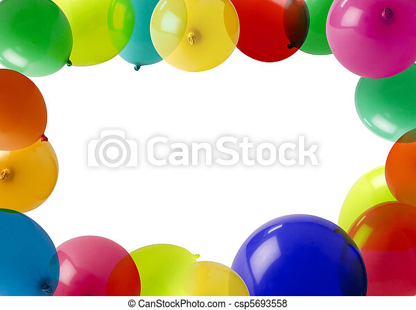 party balloons in a frame - csp5693558