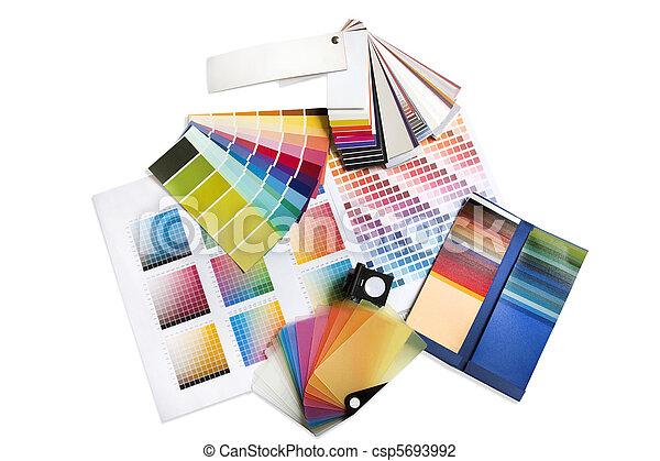 Graphic or interior designer colour swatches - csp5693992