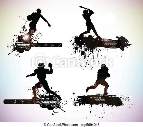 sport silhouettes - csp5694046