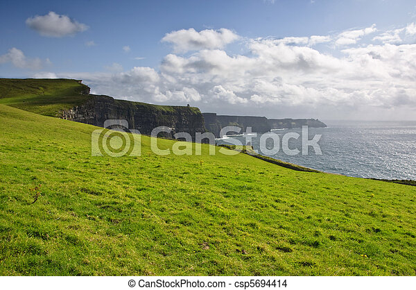 famous irish cliffs of moher in county clare, ireland - csp5694414
