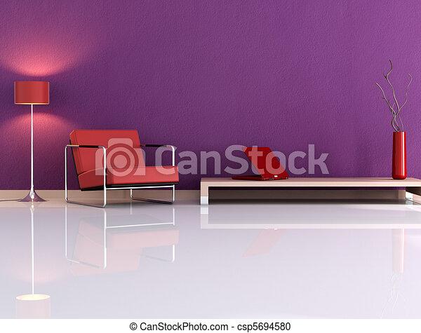 Violet living room - csp5694580