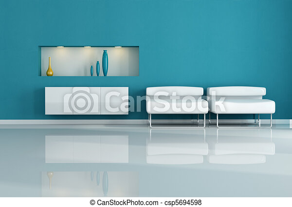 white armchair - csp5694598