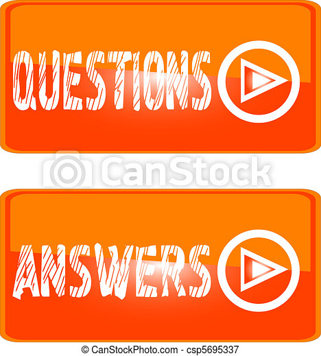 orange sign icon questions answers - csp5695337
