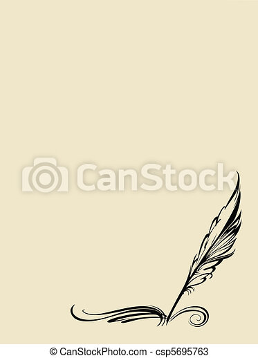 vector pen on white background - csp5695763