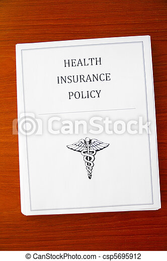 a health insurance policy, from above - csp5695912