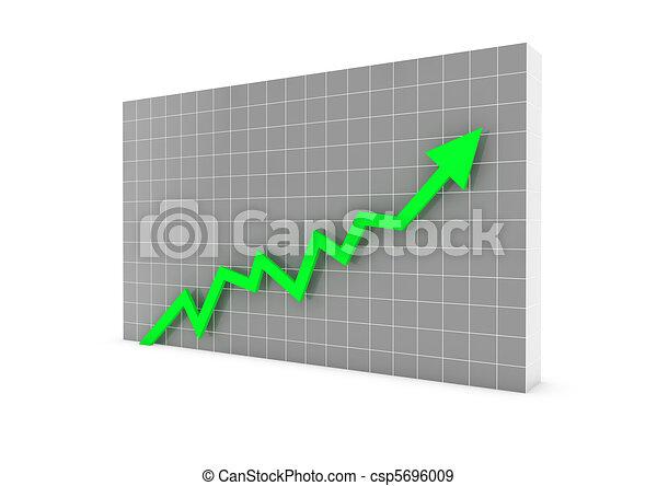 illustration de lev graphique vert fl che 3d 3d graphique fl che csp5696009. Black Bedroom Furniture Sets. Home Design Ideas