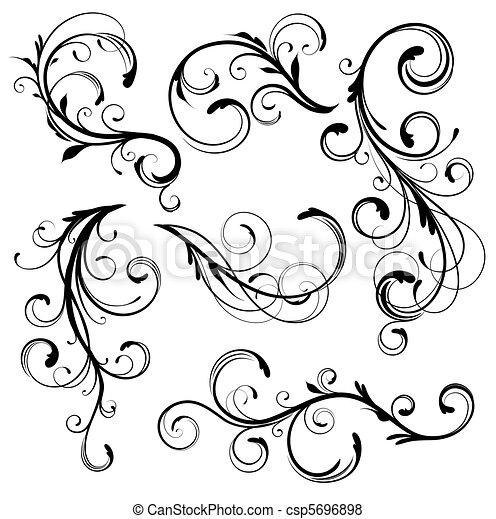 Vector - floral, elementos - stock de ilustracion, ilustracion libre ...