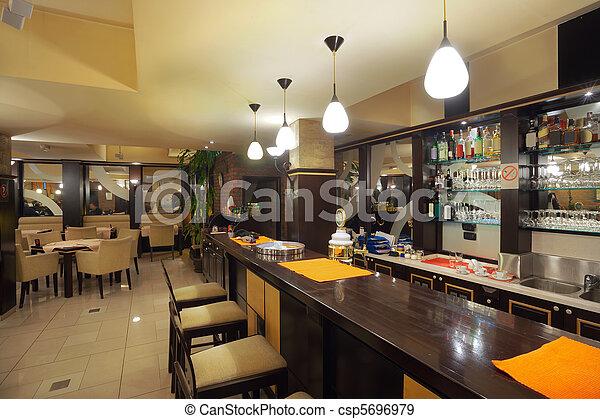 Restaurant Interior - csp5696979