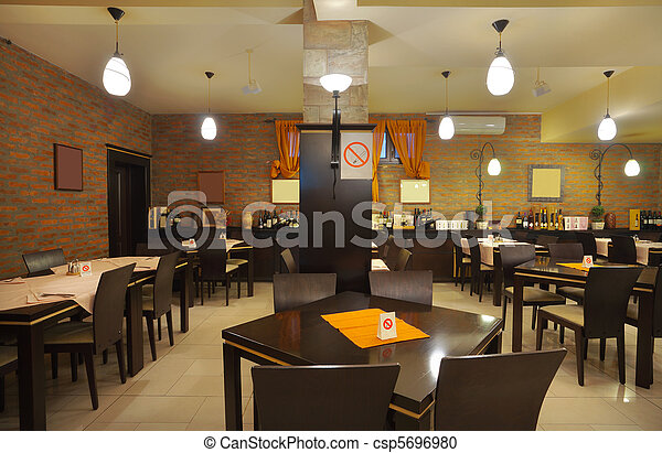 Banco de fotografia de Interior, restaurante - tabelas ...