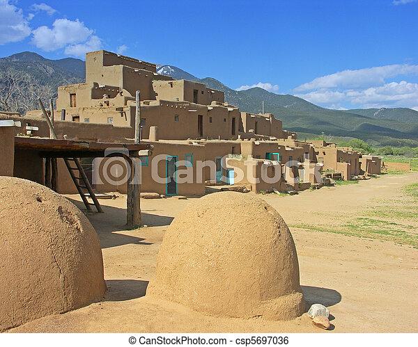 Taos Pueblo, New Mexico - csp5697036
