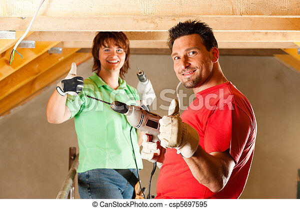 Couple in home improvement - csp5697595