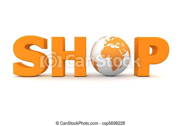 Shop World Orange - csp5698228