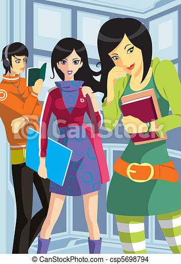 College teenagers - csp5698794