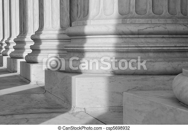 Pillars of Law and Justice - csp5698932