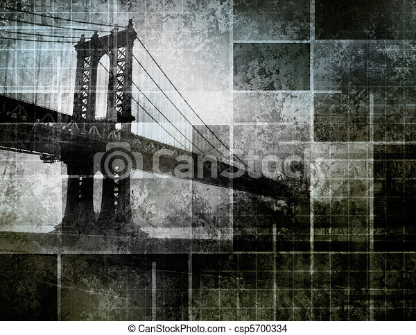 Modern Art Inspired New York City Bridge - csp5700334